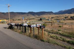Wyoming cassette postali on the road