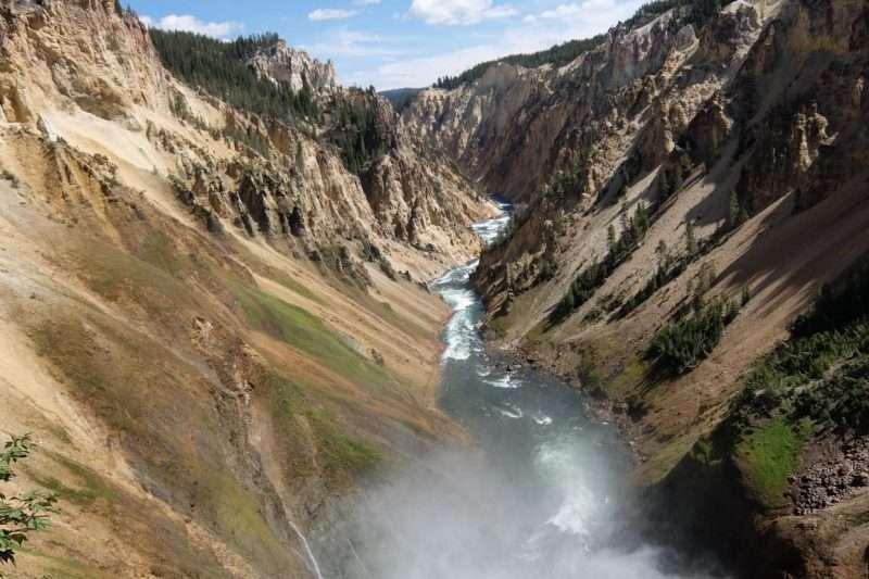 Yellowstone vista sul canyon