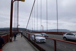 Traffico sul Golden Gate Bridge