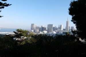 San Francisco vista sulla downtown