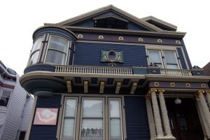 San Francisco Painted Ladies blu e viola