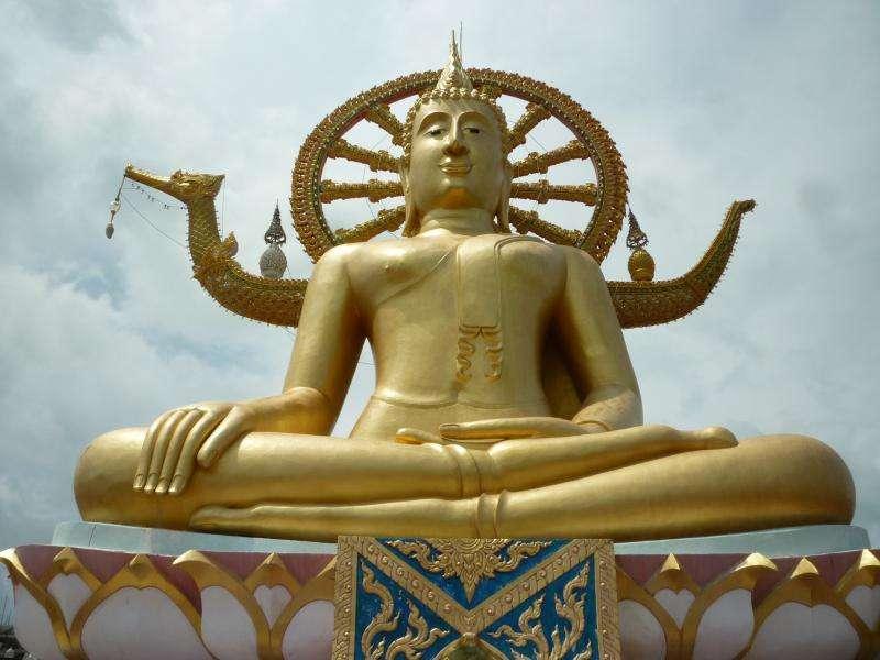 ko samui grande buddha dorato