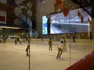 Dubai Mall pista su ghiaccio