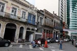 via decadente del centro di Rio