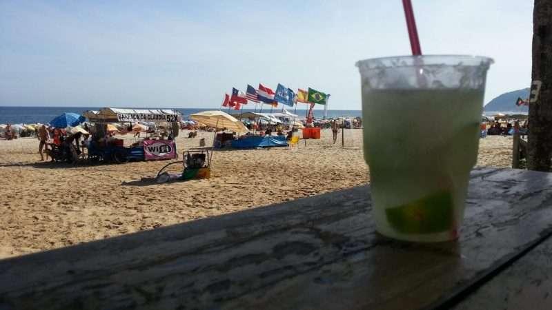 Caipirinha on the beach Leblon
