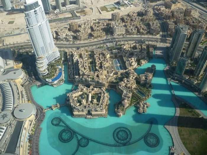 Vista panorama dal Burj Khalifa