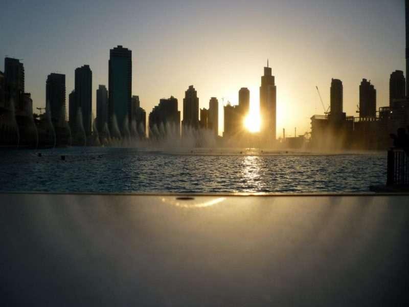 Tramonto su Dubai