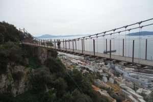 Suspension bridge a Gibilterra