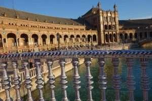 Vista dal ponticello a Plaza de Espana