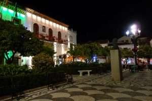 Marbella plaza de los Naranjos by night