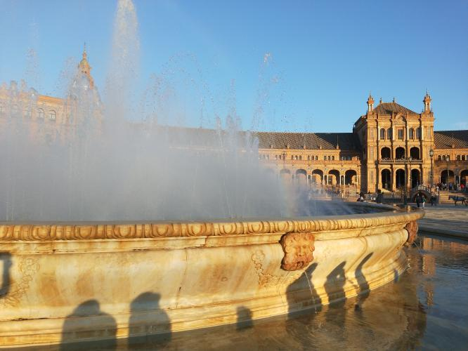 Siviglia Plaza de Espana fontana