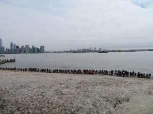 Liberty Island turisti in coda