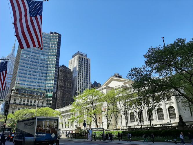 Public Library New York dalla Fifth Avenue