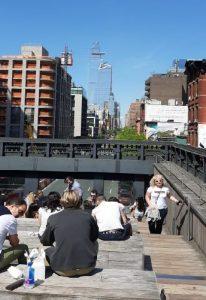 High Line vista sulle strade