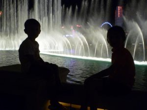 Las Vegas spettacolo fontane