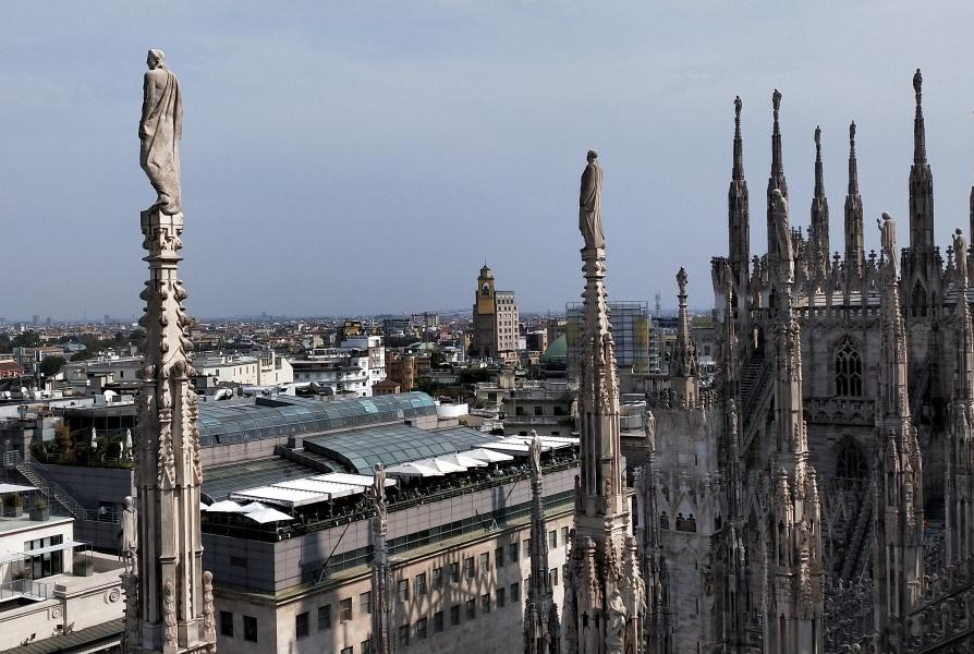 Panorama dal duomo di Milano