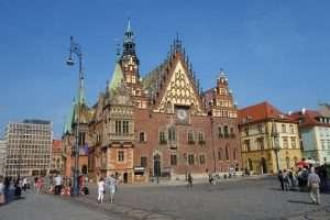 Municipio vecchio sul rynek di Breslavia