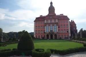 Facciata del Castello di Ksiaz Polonia
