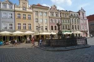 Piazza del mercato, rynek, a Poznan