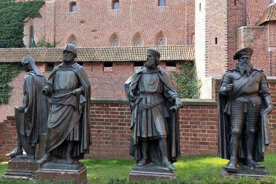 Cavalieri teutonici a Malbork in Polonia