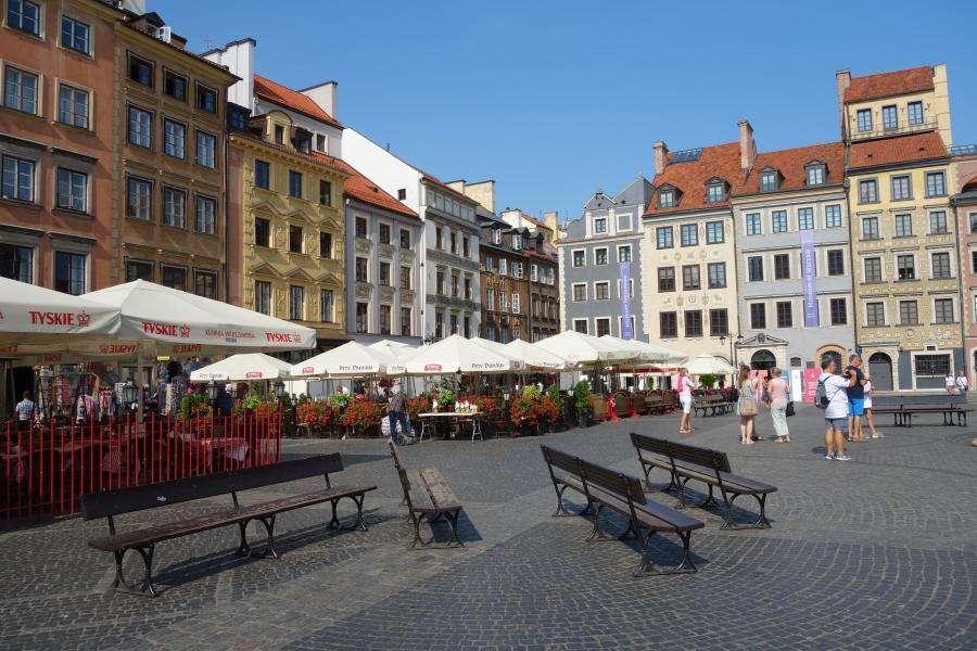 Piazza del mercato di Varsavia città vecchia