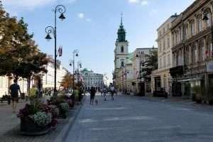 Strada reale Chiesa della Croce santa di Varsavia