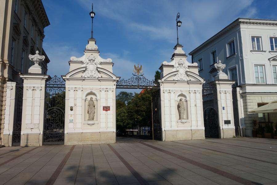 Cancello dell'Università di Varsavia strada reale