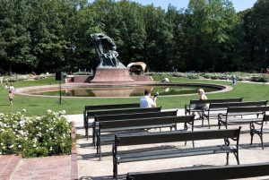 Monumento a Chopin Parco Lazienki Varsavia