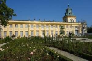 Giardini del palazzo di Wilanow a Varsavia
