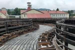 Vista dalla torre di gradazione di Wieliczka