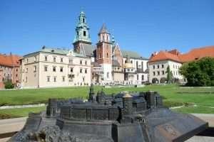 La cattedrale di Cracovia sul Wavel