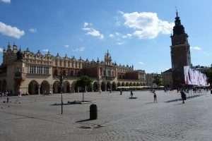 Palazzo dei tessuti a Cracovia piazza del mercato