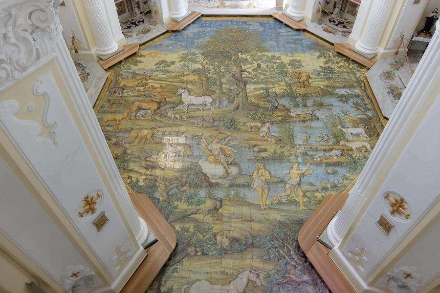 Chiesa di San Michele a Anacapri il mosaico