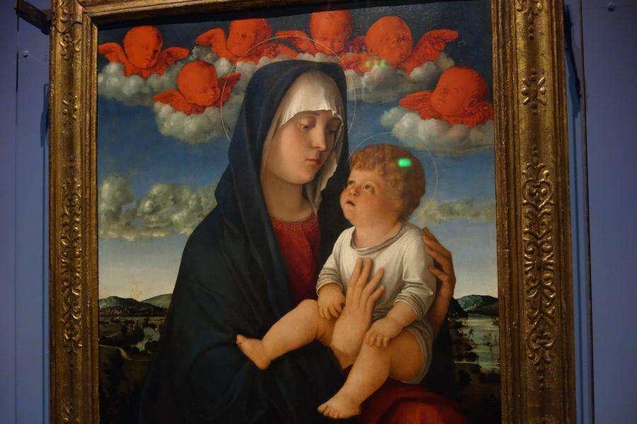 Madonna con i cherubini rossi di Giovanni Bellini