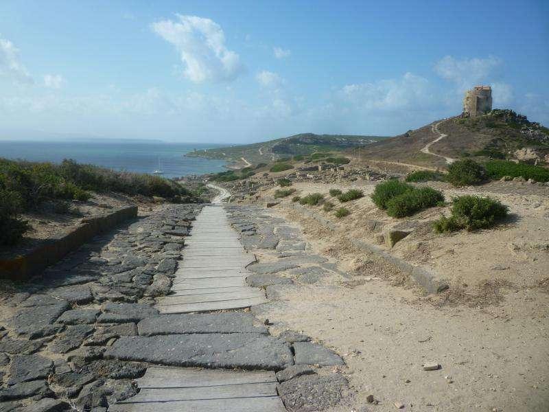 Tharros penisola di Sinis Sardegna viaggio cosa vedere
