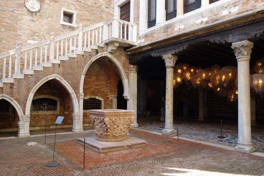 Cortile interno della Ca' d'Oro di Venezia