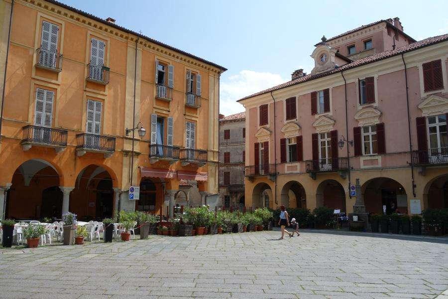 Biella piazza Cisterna in Piemonte